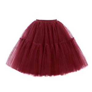 Midi tutu suknja s 5 slojeva