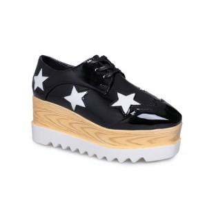 Platforma oksford cipele sa zvijezdama