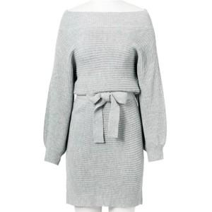 Mini pletena tunika otvorenih ramena