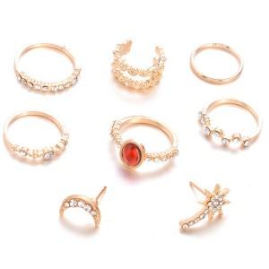 Set nakita od 8 komada naušnice + prstenje