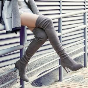 Čizmice iznad koljena na navlačenje