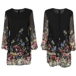 Mini boho cvjetna haljina od šifona