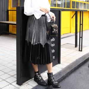 Midi metalizirana dvobojna suknja
