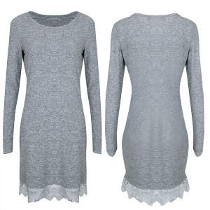 Mini haljina s čipkanim rubom