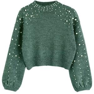 Kratki pulover s biserima