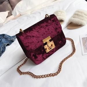Mini baršunasta lanac torbica