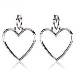 Dvostruke srce naušnice