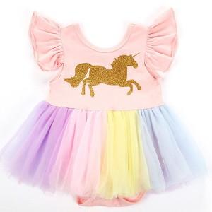 Dječja tutu jednorog haljina u duginim bojama