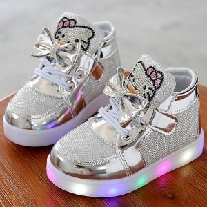 Dječje Hello Kitty svijetleće glitter tenisice