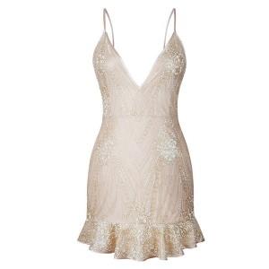 Mini glitter haljina otvorenih leđa