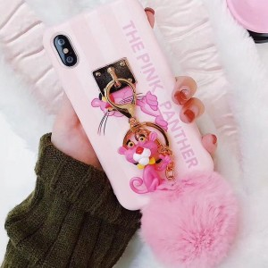 Pink Panther maskica za iPhone s privjeskom