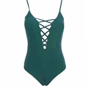 Jednodijelni push up kupaći kostim s vezicama