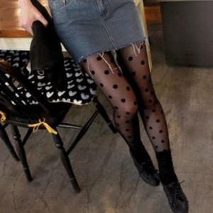 Najlon čarape na krupnije točkice
