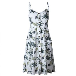 Midi haljina na bretele razni motivi