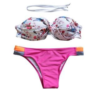 Bandeaui kupaći kostim cvjetnog uzorka