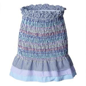 Mini prugasta suknja s volanima