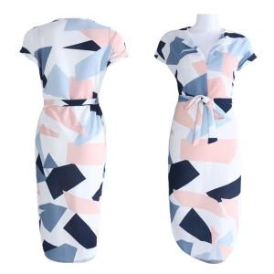 Midi haljina geometrijskog uzorka
