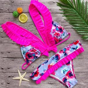 Cvjetni kupaći kostim s volanima veličina XS/34