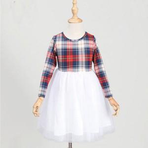 Komplet karirana haljina za mame i djevojčice