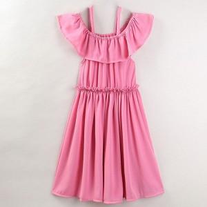 Komplet plisirana haljina otvorenih ramena za mame i djevojčice