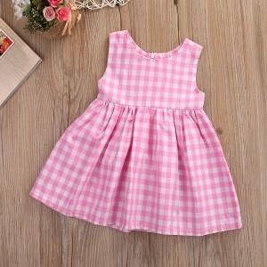 Mini haljina za djevojčice s kockicama
