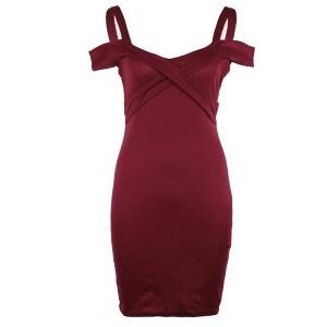 Mini elegantna haljina otvorenih ramena