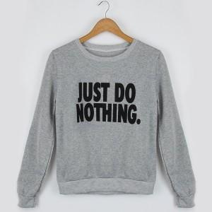 Just do nothing majica dugih rukava