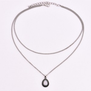 Mini vintage ogrlica s kamenom