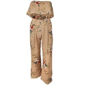 Komplet cvjetnog uzorka hlače + top