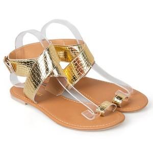 Gladijator sandale imitacije zmijske kože