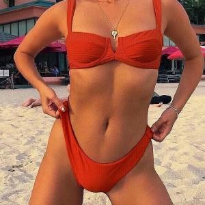 Dvodijelni reljefasti push up kupaći kostim S veličina