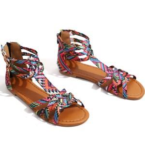 Boho sandale astečkog printa