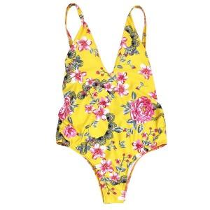 Jednodijelni cvjetni push up kupaći kostim