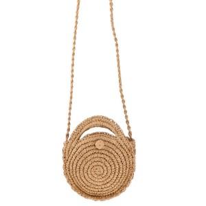 Mala pletena okrugla torbica