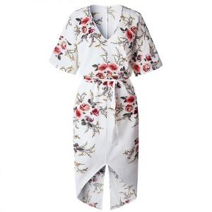 Midi cvjetna haljina s prorezom veličina standardni L