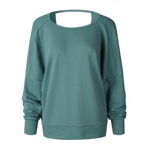 Casual majica duhig rukava s ukriženim leđima