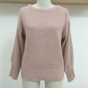 Rozi pulover s mašnom na leđima