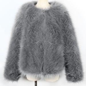 Kratka bunda od pufastog krzna