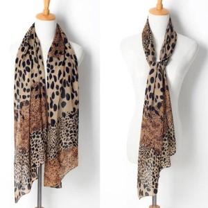 Šal marama kombiniranog leopard printa