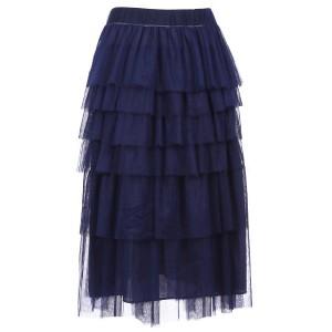 Tutu suknja od tila s asimetričnim volanima