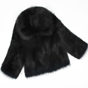 Kratka krznena bunda s ovratnikom