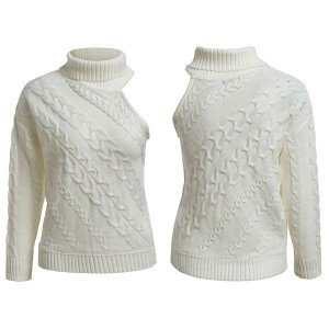 Pleteni pulover na jedno rame