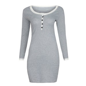 Mini rebrasta haljina s čipkanim detaljima