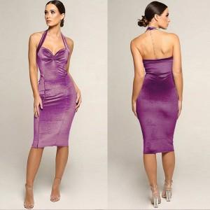Baršunasta haljina otvorenih leđa