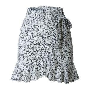 Mini preklopna suknja na volane