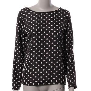Bluza okruglog ovratnika na točkice *posebna ponuda*