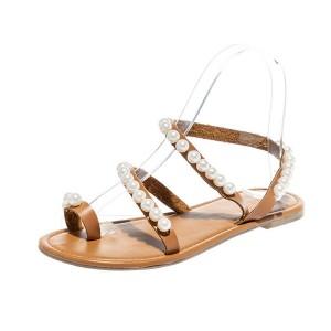 Niske sandale s biserima