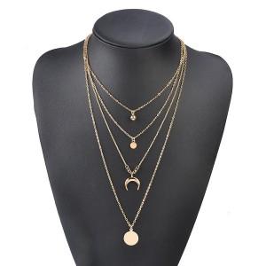 Set od 4 mini ogrlice s polumjesecom