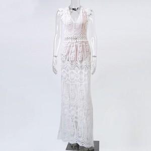 Unikatna čipkana haljina otvorenih leđa*limitirana kolekcija*