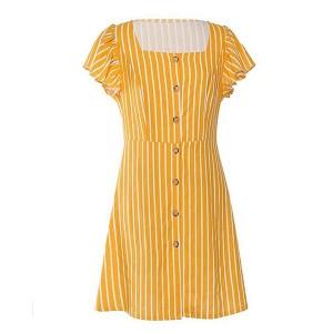 Mini prugasta pamučna haljina s remenom *limitirana kolekcija*